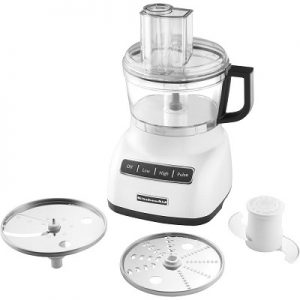 KitchenAid KFP0711WH Food Processor, 7 Cup, White
