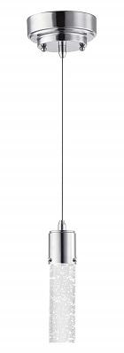 Westinghouse Lighting 6307900 Cava One-Light LED Indoor Mini-Pendant, Chrome Finish with Bubble Glass