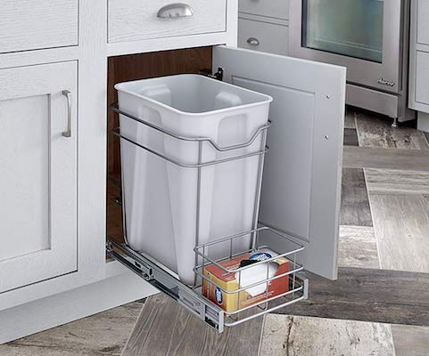 ClosetMaid 32102 Premium 24 Quart Cabinet Pull Out Trash Bin