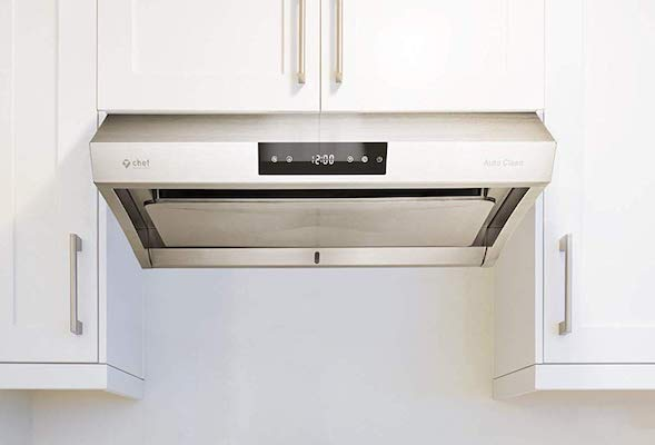 Hauslane - Chef Series Range Hood 30 PS38 Pro Performance Stainless Steel Slim Under Cabinet Range Hood Design, Touch Panel - Superior Perimeter Aspiration Extraction - Steam Auto Clean, 950 CFM