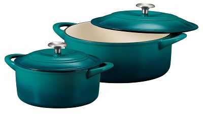 Tramontina 80131/679DS Enameled Cast Iron Covered Round Dutch Oven Combo