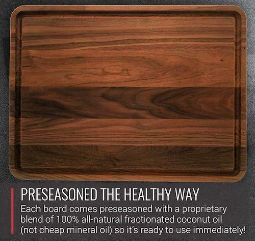 Extra Large Walnut Wood Cutting Board by Virginia Boys Kitchens