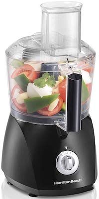 Hamilton Beach ChefPrep 10-Cup Food Processor & Vegetable Chopper with 6 Functions to Chop, Puree, Shred, Slice and Crinkle Cut