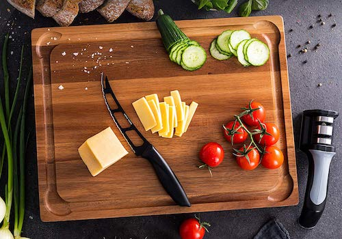 Large Wood Cutting Board with Handle