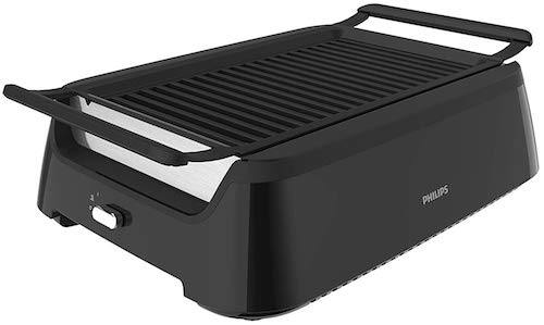 Philips Kitchen Appliances HD6371:98 Premium Smokeless Electric Indoor Grill