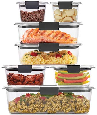 Rubbermaid 2108377 Brilliance Storage 14-Piece Plastic Lids | BPA Free, Leak Proof Food Container, Clear