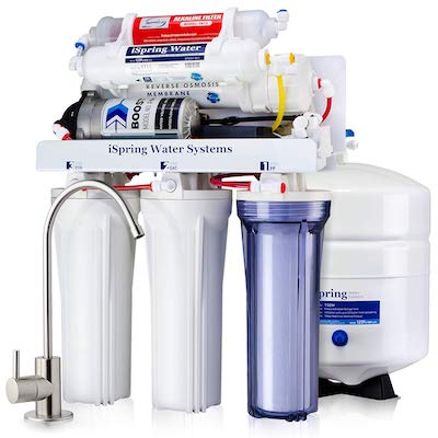 iSpring RCC7P-AK 6-Stage Reverse Osmosis Drinking Filtration System