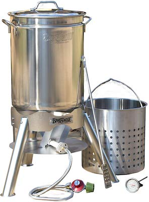 Bayou Classic 800-144 44 quart Boil and Brew, Stainless Seafood Boiler