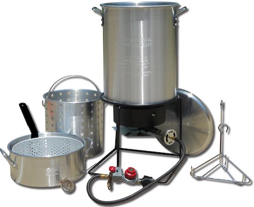 King Kooker 1265BF3 Portable Propane Outdoor Deep Frying:Boiling Package with 2 Aluminum Pots