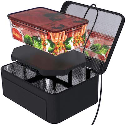 Portable Oven Personal Food Warmer for Prepared Meals Reheating & Raw Food Cooking at Work Without Using Office Microwave