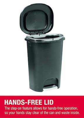 Rubbermaid NEW 2019 VERSION Step-On Lid Trash Can for Home, Kitchen