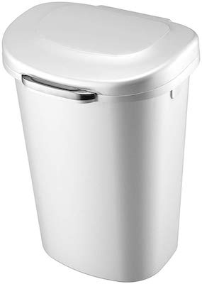 Rubbermaid Touch Top Lid Trash Can for Home, Kitchen, and Bathroom Garbage, 13 Gallon