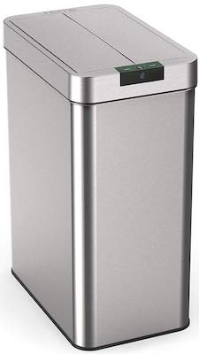 hOmeLabs 13 Gallon Automatic Trash Can for Kitchen Rectangle