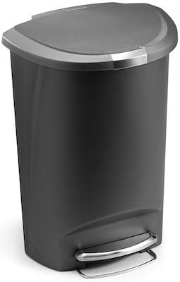 simplehuman 50 Liter : 13 Gallon Semi-Round Kitchen Step Trash Can
