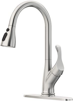 APPASO Pull Down Kitchen Faucet with Sprayer Stainless Steel