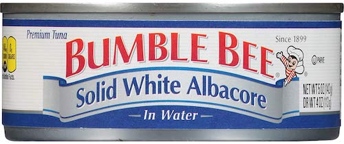 BUMBLE BEE Solid White Albacore Tuna in Water, Canned Tuna Fish
