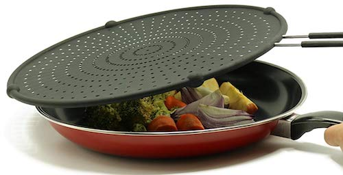 Beckon Ware 13 Silicone Splatter Screen for Frying Pan & Skillet