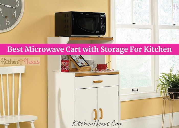 Best Microwave Cart with Storage For Kitchen Review