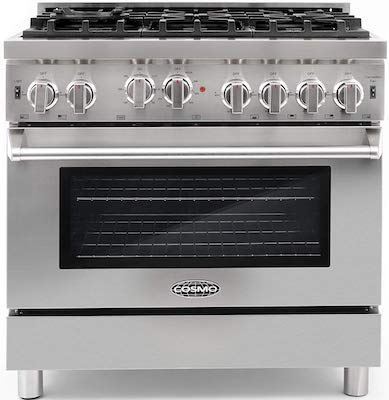 Cosmo GRP366 36 in Freestanding Gas Range