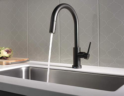Delta Faucet Trinsic VoiceIQ Single-Handle Touch Kitchen Sink Faucet with Pull Down Sprayer