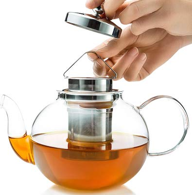 Glass Stovetop Tea Kettle with Infuser