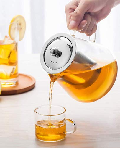 Glass Teapot with Infuser Tea Pot Tea Kettle Stovetop Safe