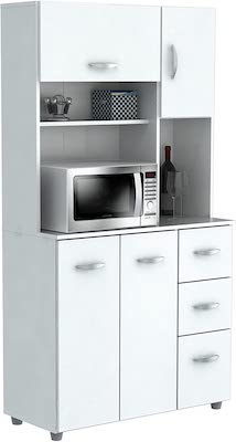 Inval America 4 Door Microwave Storage Cabinet