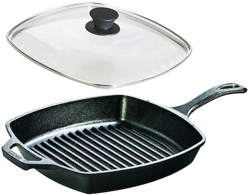 Lodge Seasoned Cast Iron Cookware Set - Square Grill Pan