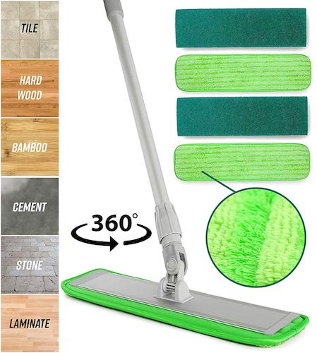 Microfiber Mop Floor Cleaning System for Kitchen