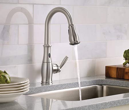 Moen 7185ESRS High Arc Pulldown Kitchen Faucet