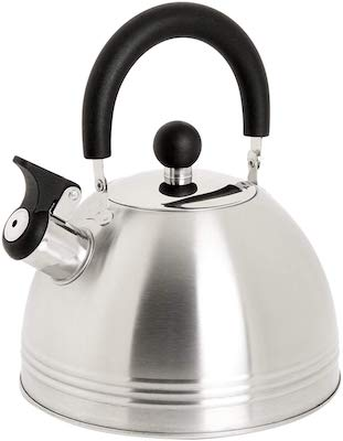 Mr. Coffee Carterton 1.5 Quart Stainless Steel Whistling Tea Kettle