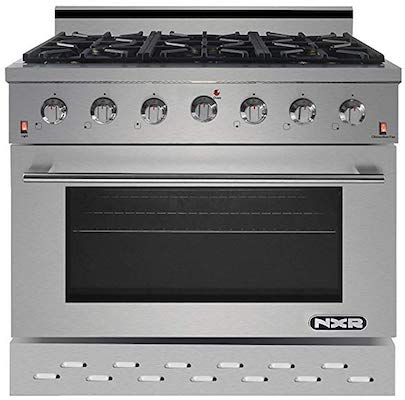 NXR SC3611 36 5.5 cu.ft. Professional Style Gas Range with Convection Oven