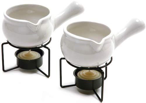 Norpro 210 Ceramic Butter Warmers, Set of 2, 1-3 cup-3 oz, White
