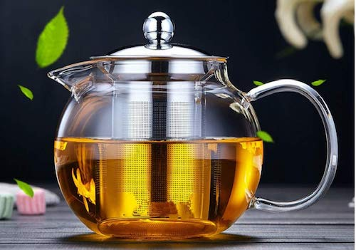 OBOR Glass Teapot with Removable Infuser Stovetop Safe Kettle