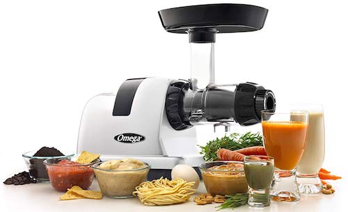Omega J8006HDS Nutrition Center Quiet Dual-Stage Slow Speed Masticating Juicer Makes Fruit and Vegetable