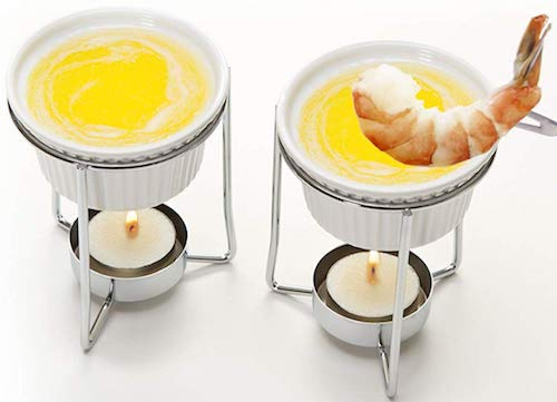 Prepworks by Progressive Ceramic Butter Warmer Fondue Set