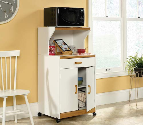 Sauder Universal Oven Cart, Soft White finish