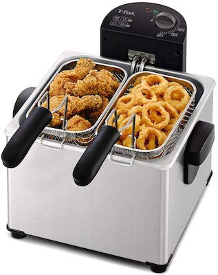 T-fal FR3900 Triple Basket Deep Fryer with Stainless Steel Removable Pot and Professional Heating Element
