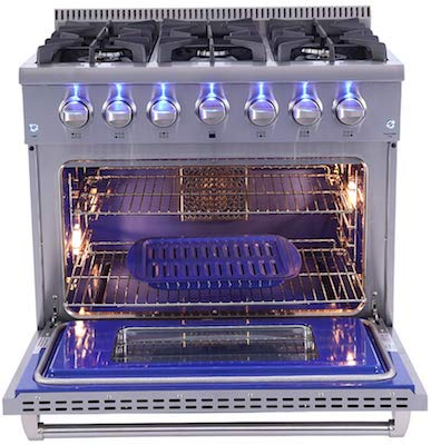 Thor Kitchen Free Standing Freestanding Professional Style Gas Range with Burners