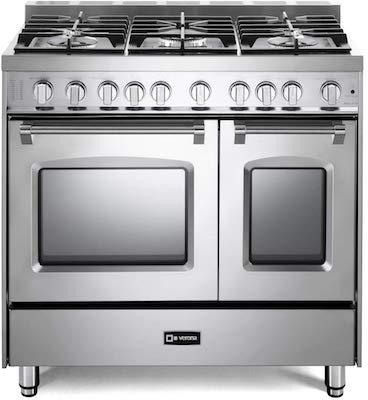 Verona Prestige Series VPFSGG365DSS 36 inch All Gas Range 5 Sealed Burners