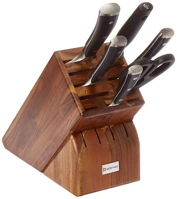 Wusthof CLASSIC IKON 7 Acacia Block 7-Piece Knife German Set