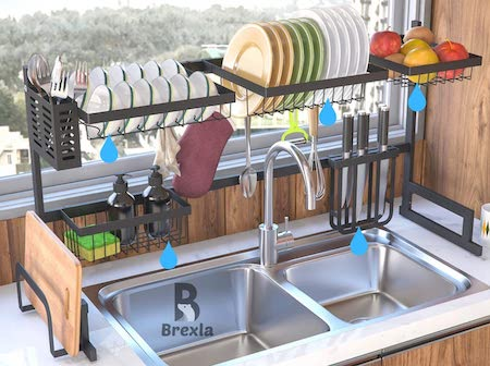 Brexla Length Adjustable Over The Sink Dish Drying Rack