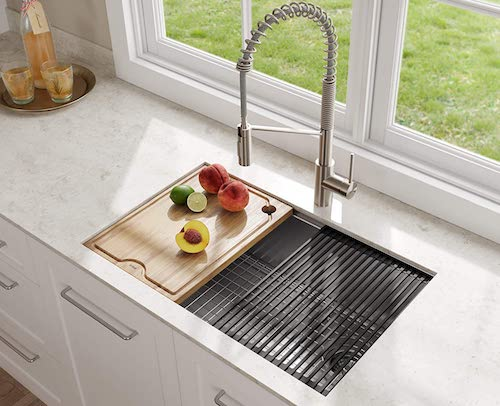 KRAUS KWU110-30 Workstation Stainless Steel Kitchen Sink