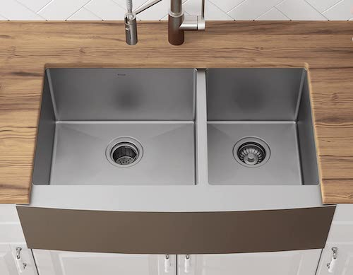 Kraus KHF203-33 Standart PRO Kitchen Stainless Steel Sink Double Dowl