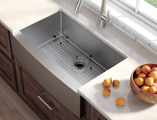 Kraus Kitchen Stainless Steel Sink Single Bowl KHF200