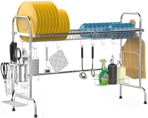 Over the Sink Dish Drying Rack, iSPECLE Large