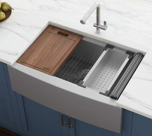Ruvati RVH9300 Apron Front Kitchen Single Bowl Sink Stainless Steel