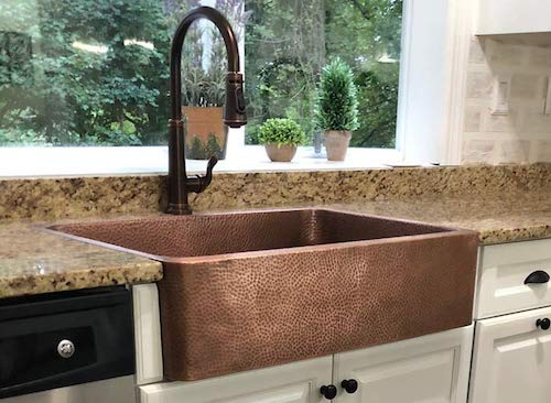 Sinkology Copper Farmhouse Single Bowl Kitchen Sink