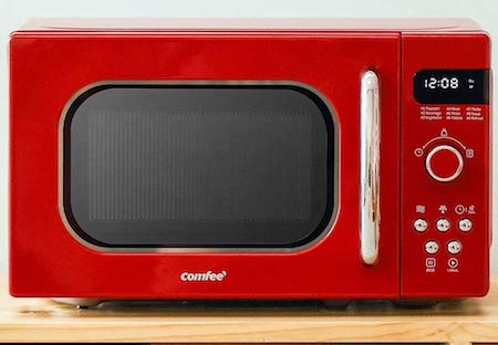 COMFEE' Retro Countertop Microwave Oven with Compact Size
