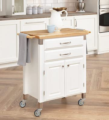 Dolly Madison White Prep & Serve Cart by Home Styles